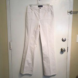 NYDJ Lift Tuck Technology White Wide Leg Jeans